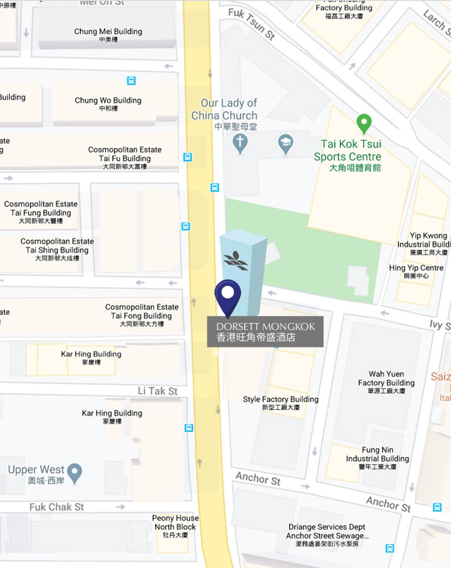 香港旺角帝盛酒店 - 地图