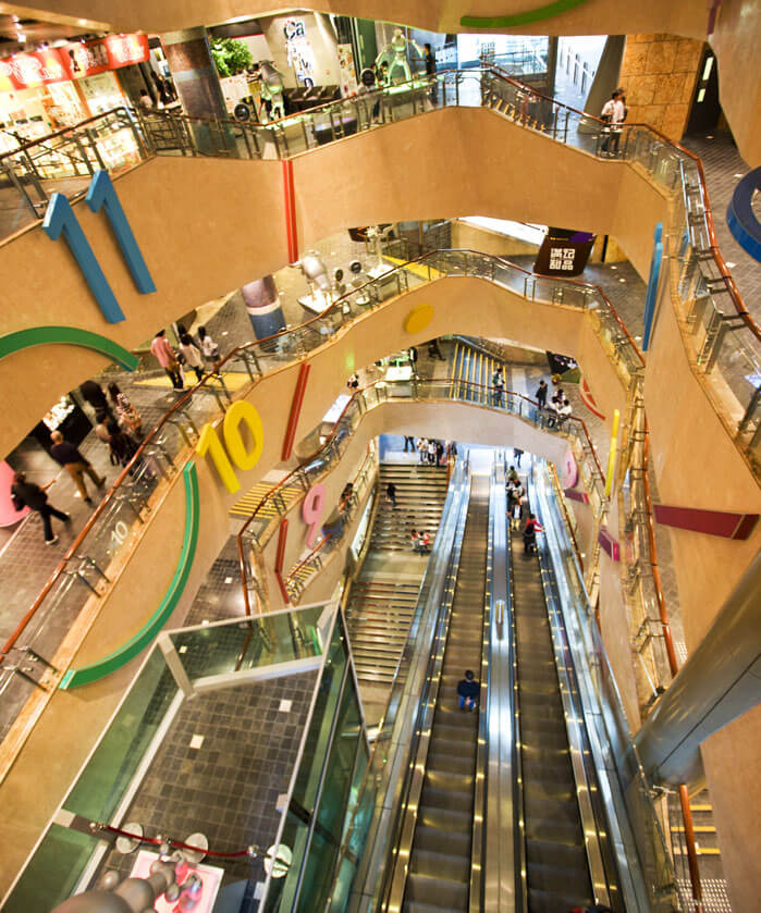 Langham Place Shopping Mall in Hong Kong