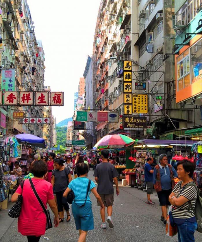 Fa Yuen Street Bazaar in Hong Kong