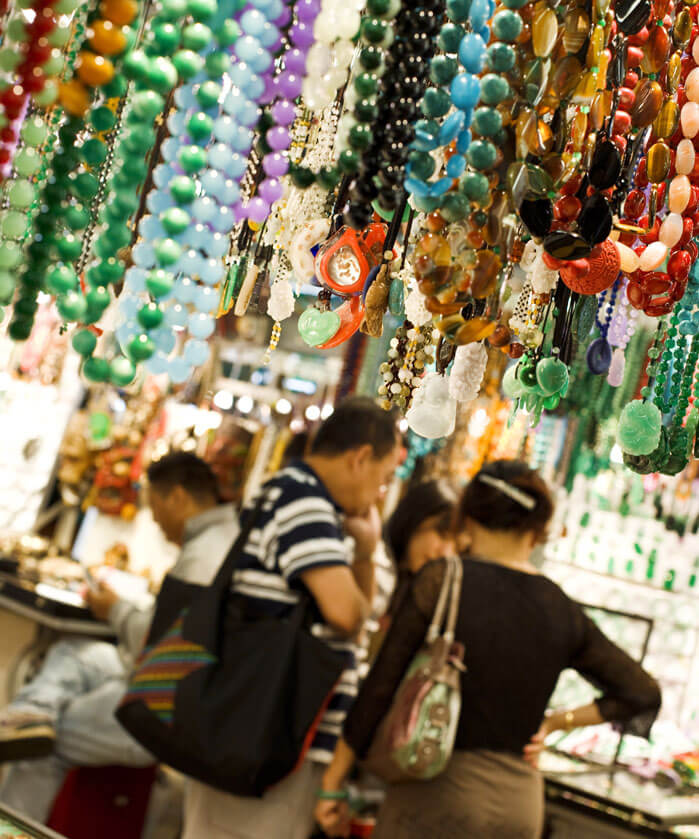 Jade Jewelry Market in Hong Kong