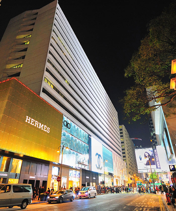 Shopping Malls in Canton Road, Hong Kong