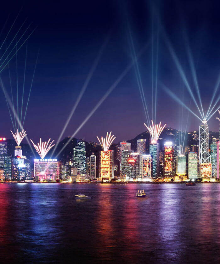 A Symphony of Lights light and sound show in Hong Kong