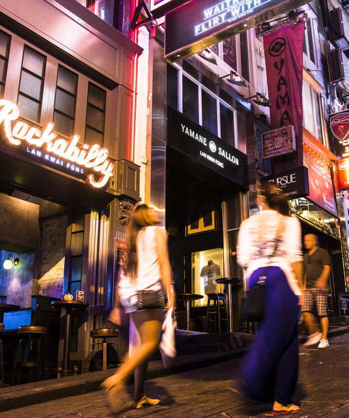 Nightlife at Lan Kwai Fong Street