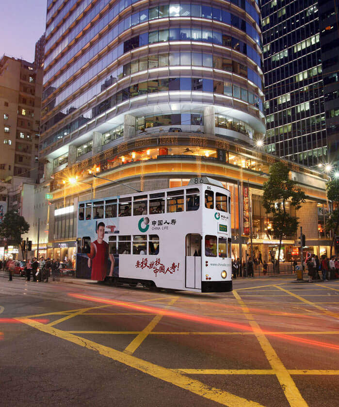 Tram Rides in Mongkok Hong Kong